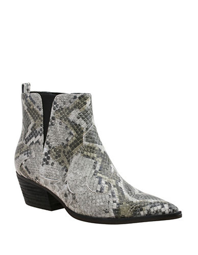 Nine West Cedar Snake Ankle Boots-SNAKE-7.5
