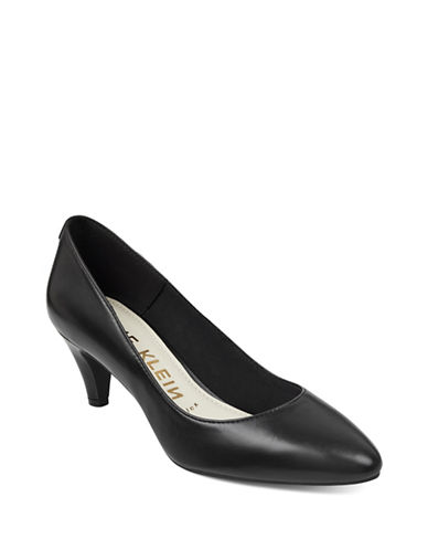 Anne Klein Rosalie Almond Toe Pumps-BLACK-9