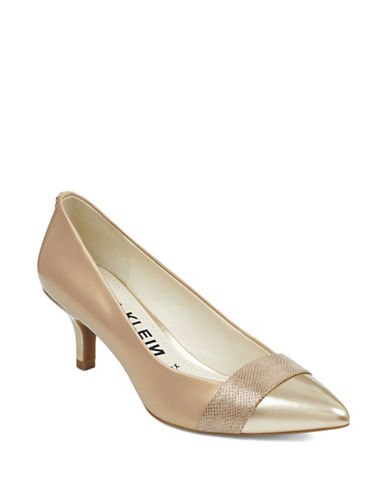 Anne Klein Ferri Point Toe Pumps-NATURAL-9.5
