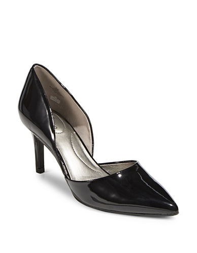 Bandolino Classic Slip-On Pumps-BLACK PATENT-9.5