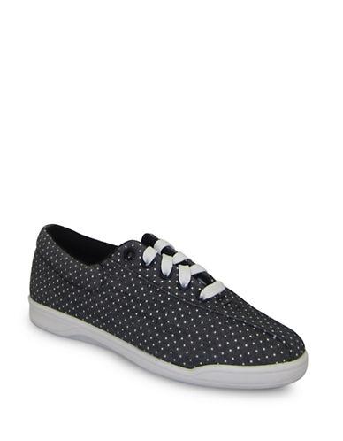 Easy Spirit Casual Polka Dot Sneakers-BLACK-9
