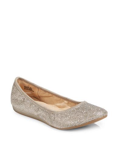 Bandolino Fadri Metallic Ballet Flats-GOLD-9