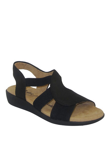 Easy Spirit Kalayla Banded Sandals-BLACK-7.5