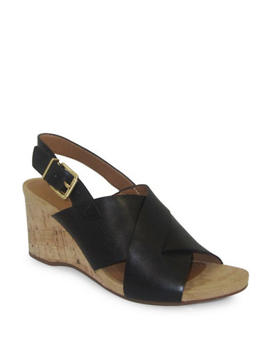 Easy Spirit Lacene Wedge Sandals-BLACK-7.5
