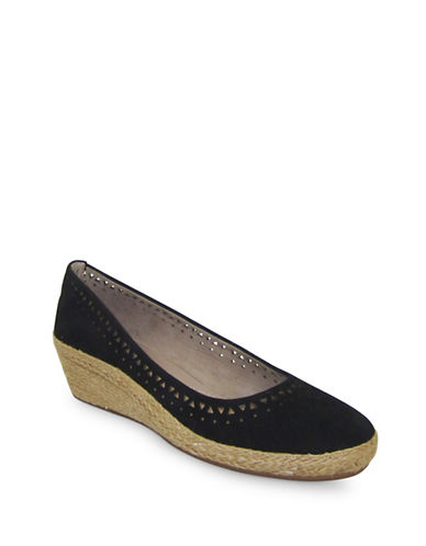 Easy Spirit Derely Lasercut Wedges-BLACK-7