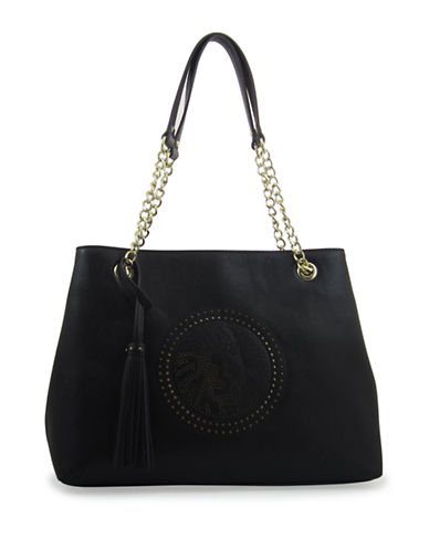 Anne Klein Embellished Tote-BLACK-One Size 88284313_BLACK_One Size