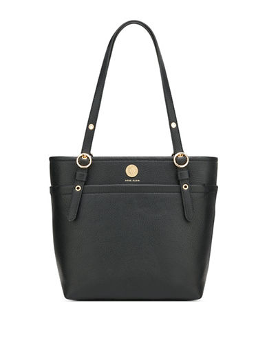 Anne Klein Small Zip Tote-BLACK-One Size 89875394_BLACK_One Size