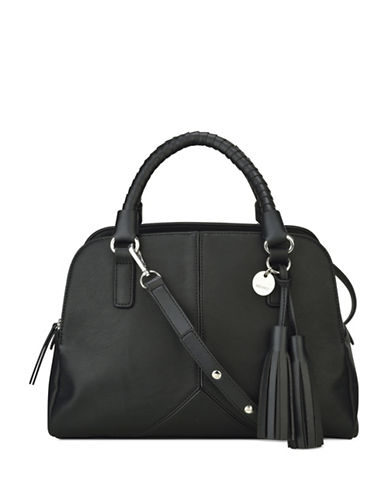 Nine West Tasseled and Tied Doctors Bag-BLACK-One Size
