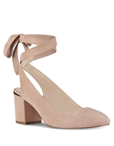 Nine West Andrea Kid Suede Pumps-LIGHT PINK-8.5