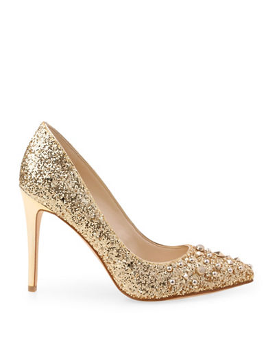 Nine West Elenah Studded Pumps-PLATINO-8.5