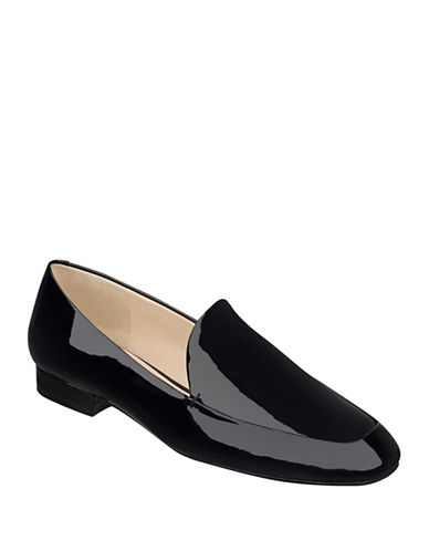 Nine West Xalan Tailored Leather Loafers-BLACK-8.5