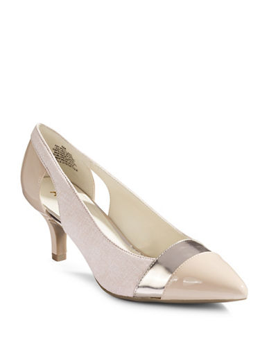 Anne Klein First Class Leather Pumps-LIGHT PINK-8.5