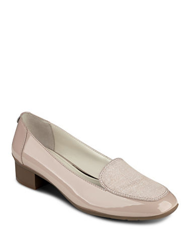 Anne Klein Daneen Patent Leather Loafers-LIGHT PINK-8