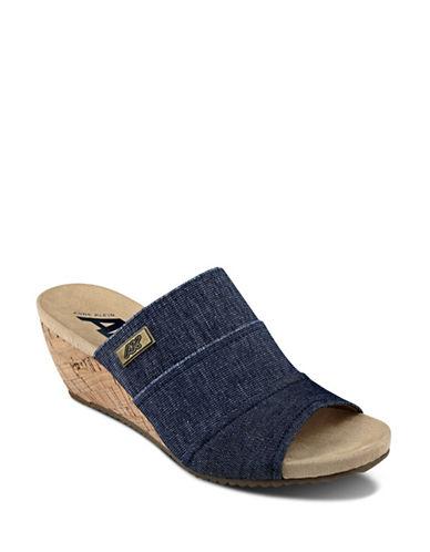 Anne Klein Chanay Wedge Sandals-DENIM BLUE-10
