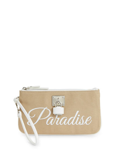 Nine West Paradise Cotton Wristlet-NATURAL-One Size
