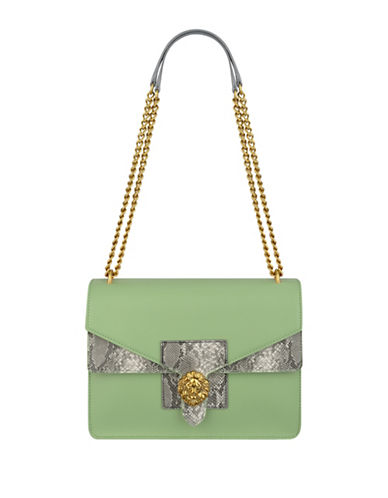 Anne Klein Diana Large Double Flap Chain Bag-GREEN-One Size