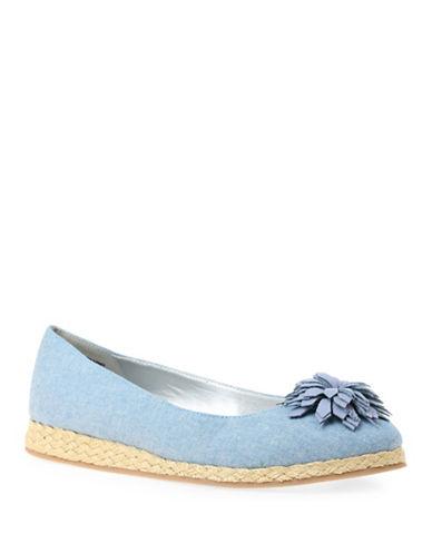 Bandolino Denim Flower Ballet Flats-BLUE-7