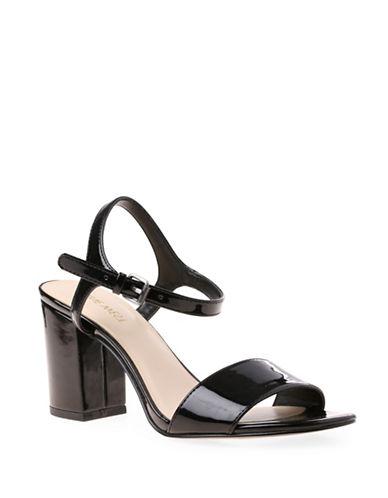 Nine West Block Heel Sandals-BLACK-6