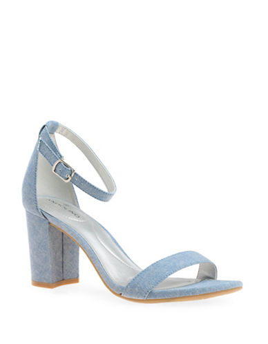 Bandolino Denim Two-Piece Heeled Sandals-BLUE-7.5