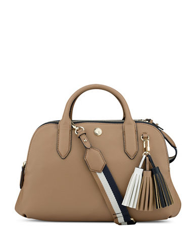 Nine West Esmerelda Colourblock Satchel-BROWN-One Size