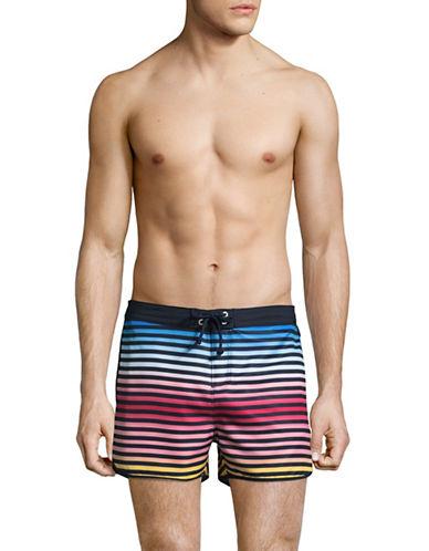 Original Penguin Ombre Striped Volley Swim Shorts-BLUE-31