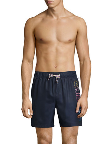 Original Penguin Ombre Original Swim Shorts-BLUE-Large