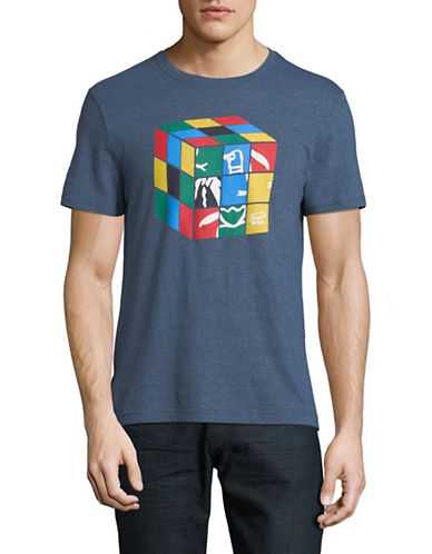 Original Penguin Multicoloured Graphic T-Shirt-BLUE-Small 89852137_BLUE_Small