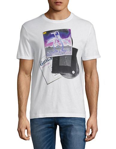 Original Penguin Mixed Records Pete Cotton T-Shirt-WHITE-Large 90051698_WHITE_Large