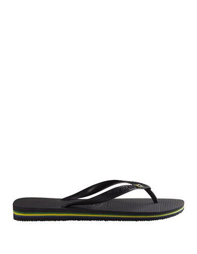 Havaianas Brasil Flip Flops-BLACK-45/46