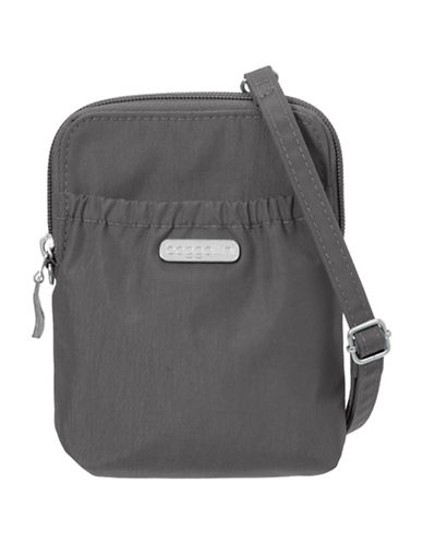 Baggallini Bryant Water-Resistant RFID Pouch-GREY-One Size