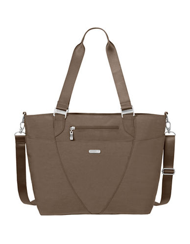 Baggallini Avenue Solid Tote-BROWN-One Size