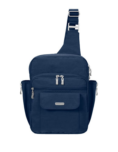Baggallini Water-Resistant Messenger Bag-BLUE-One Size