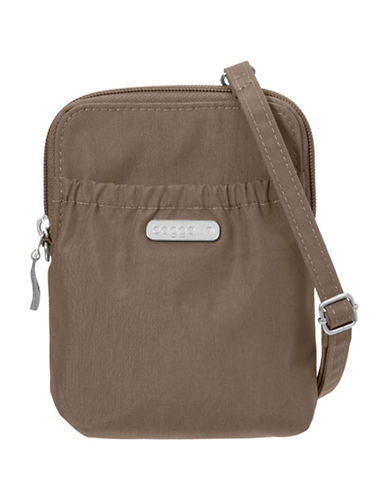 Baggallini Bryant Water-Resistant RFID Pouch-BROWN-One Size