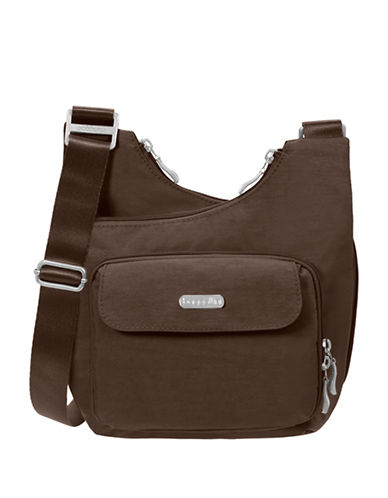 Baggallini Crisscross Crossbody Bag-BROWN-One Size