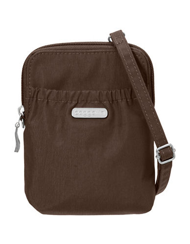 Baggallini Bryant Water-Resistant RFID Pouch-DARK BROWN-One Size