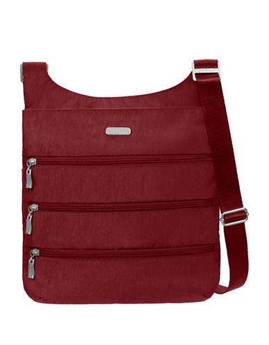 Baggallini Multi-Zipper Crossbody Bag-RED-One Size