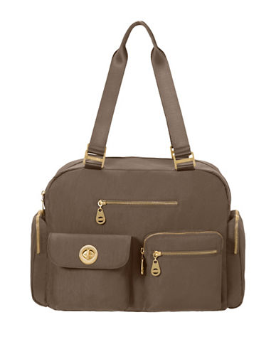 Baggallini Venice Laptop Tote-BROWN-One Size