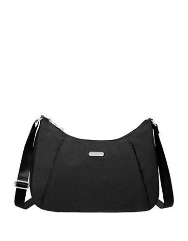 Baggallini Slim Crossbody Hobo-BLACK-One Size