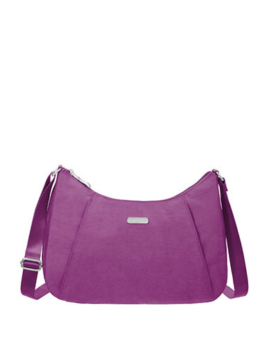Baggallini Slim Crossbody Hobo-MAGENTA-One Size