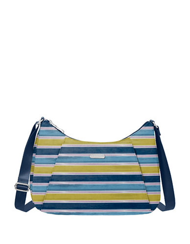 Baggallini Slim Crossbody Hobo-BLUE-One Size