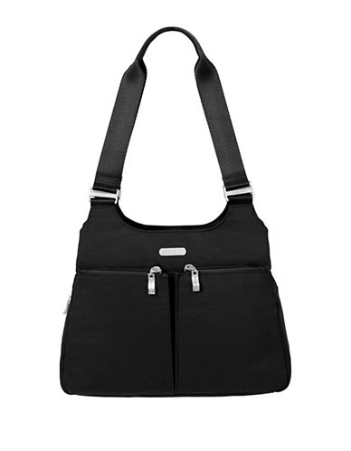 Baggallini Nylon Satchel-BLACK-One Size