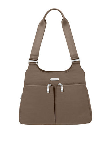 Baggallini Nylon Satchel-BROWN-One Size