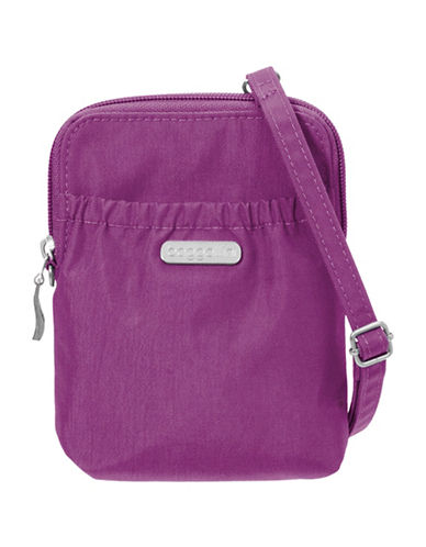 Baggallini Bryant Water-Resistant RFID Pouch-MAGENTA-One Size