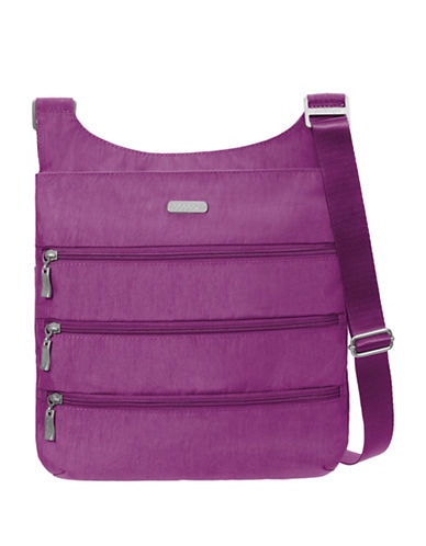 Baggallini Multi-Zipper Crossbody Bag-MAGENTA-One Size