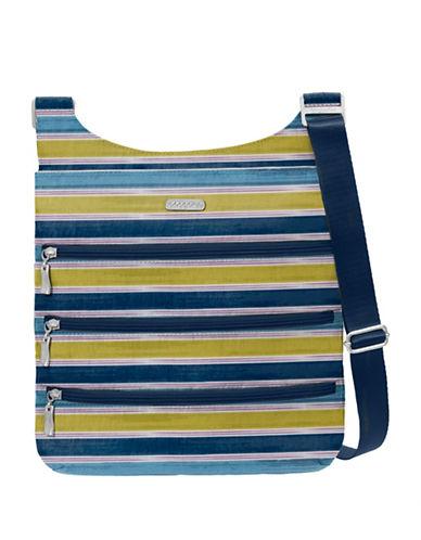 Baggallini Multi-Zipper Crossbody Bag-BLUE-One Size