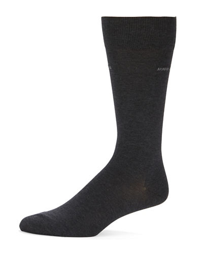 Boss Solid Dress Socks-CHARCOAL-EU 41-46/US 8-13