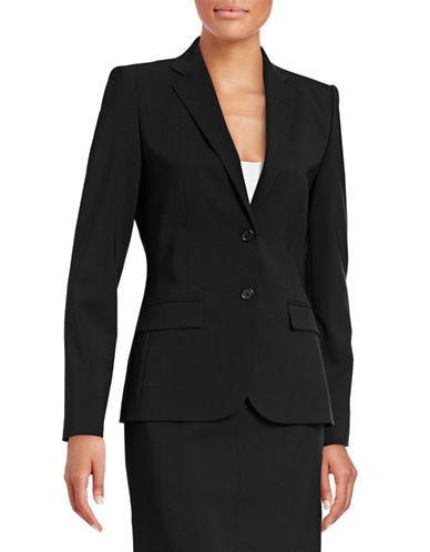 Hugo Amiesa Stretch-Wool Jacket-BLACK-EUR 34/US 2