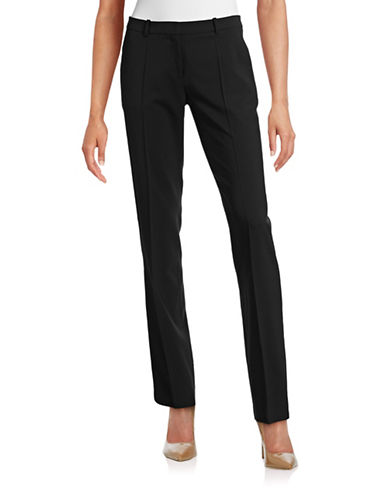 Hugo Virgin-Wool-Blend Straight Pants-BLACK-EUR 36/US 4