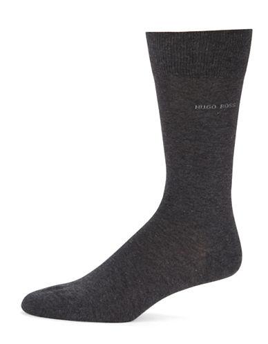 Boss Solid Dress Socks-CHARCOAL-EU 41-46/US 8-13