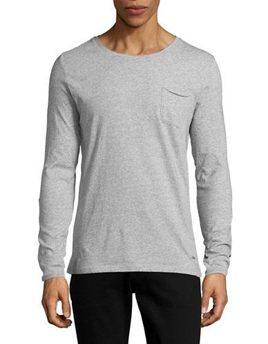 Boss Orange Slim Fit Roll-Edge Pocket T-Shirt-GREY-X-Large 88824672_GREY_X-Large
